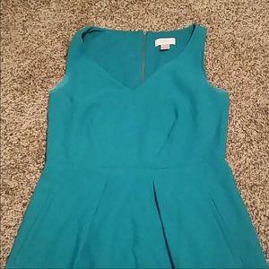 Loft Emerald Green Dress with Pockets!